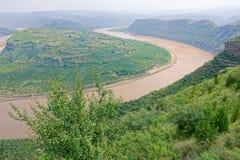 Courbure de Qiankun de la rivière Yellow photo libre de droits