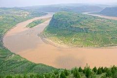 Courbure de Qiankun de la rivière Yellow photos libres de droits