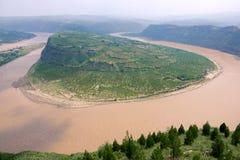 Courbure de Qiankun de la rivière Yellow photographie stock libre de droits