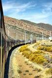 Courbure de rotation de train Photographie stock libre de droits