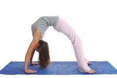 Courbure de yoga Photos libres de droits