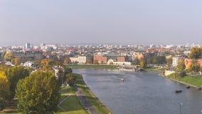 Courbure du fleuve Vistule Photos stock