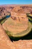 Courbure en fer à cheval, page, Arizona Images libres de droits