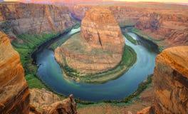 Courbure en fer à cheval, page, Arizona, Etats-Unis Images libres de droits