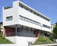 Courbusier house south east side, Weissenhof, Stuttgart Stock Photo