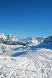 Courchevel - french alps. Slope in courchevel - france Stock Photos