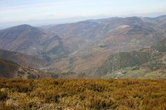 Courel mountains. Landscape in Galicia, Spain Royalty Free Stock Photo