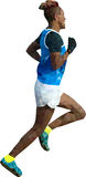 Coureur bas poly Images stock