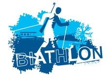 Coureur de biathlon de ski de pays croisé Photographie stock libre de droits