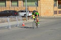 Coureur de cycle solitaire Photos stock