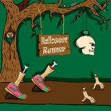 Coureur de Halloween illustration de vecteur