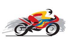 Coureur de moto Images stock