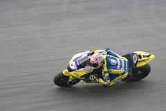 Coureur de motocyclette sur la piste Photos stock