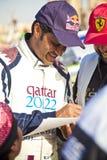 Coureur de rassemblement du Qatar Photographie stock