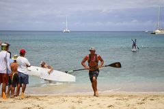 Coureur de Ryan Helm World Paddle Association Images stock