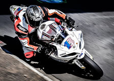 Coureur de Superbike Photographie stock