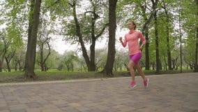 Coureur - ext?rieur courant de femme, formation, concept de perte de poids Motiom lent clips vidéos