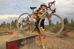 Coureur féminin de Cyclocross Photo libre de droits