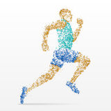Coureur, marathon, athlétisme, concurrence Image libre de droits