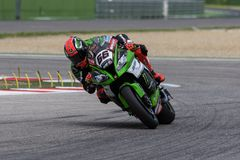 Coureur Tom Sykes de moto photo stock