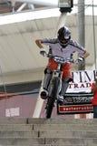 Coureur urbain de bicyclette Photographie stock libre de droits