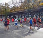 Coureurs chez Berlin Marathon Photo stock