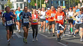 Coureurs chez Berlin Marathon 2012 Photographie stock