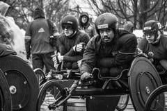 Coureurs de fauteuil roulant Images libres de droits