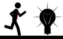 Courez à l'ampoule Image libre de droits