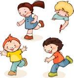 Courez les enfants Images libres de droits