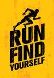 Courez se trouvent Citation de inspiration de motivation de sport de séance d'entraînement et de forme physique Affiche créative  Photo libre de droits