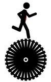 Courez sur la roue Photo libre de droits