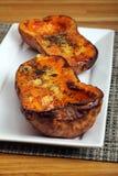 Courge de butternut rôtie Photo libre de droits