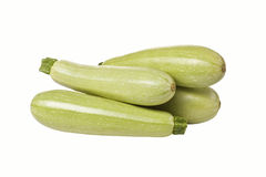 Courge de courgette sur le fond blanc d'isolement Photo stock