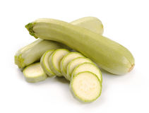 Courgette. On a white background royalty free stock photo