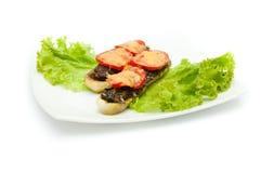 Courgette bourrée avec des tomates Photo libre de droits