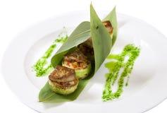 Courgette bourrée des légumes Photographie stock libre de droits