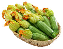 Courgette com flores imagem de stock royalty free