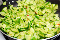 Courgette coupée Images stock