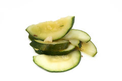 Courgette cuite Photos stock