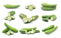 Courgette d'isolement sur le fond blanc Image stock