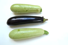 Courgette et aubergine Images libres de droits