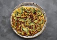 Courgette Frittata stock afbeelding