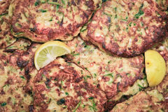 Courgette fritters Royalty Free Stock Photo