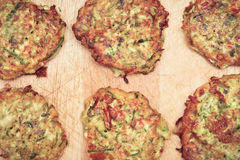 Courgette fritters Royalty Free Stock Photos