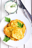 Courgette fritters Royalty Free Stock Images
