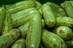 Courgette On Greengrocer Stock Image