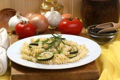 courgette grilled noodle organic στοκ φωτογραφίες