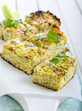 Courgette and herb bake Royalty Free Stock Images