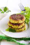 Courgette and herb cakes Royalty Free Stock Photo